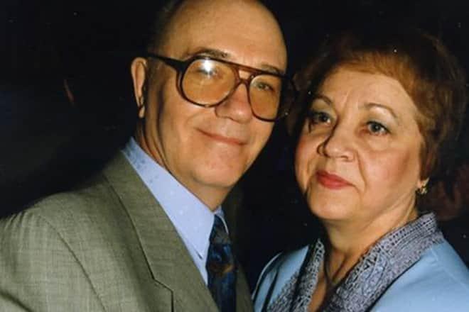 Леонид Куравлев с женой