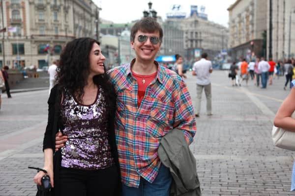 Джакомо Челентано с женой