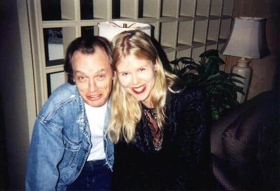 Ангус Янг с женой