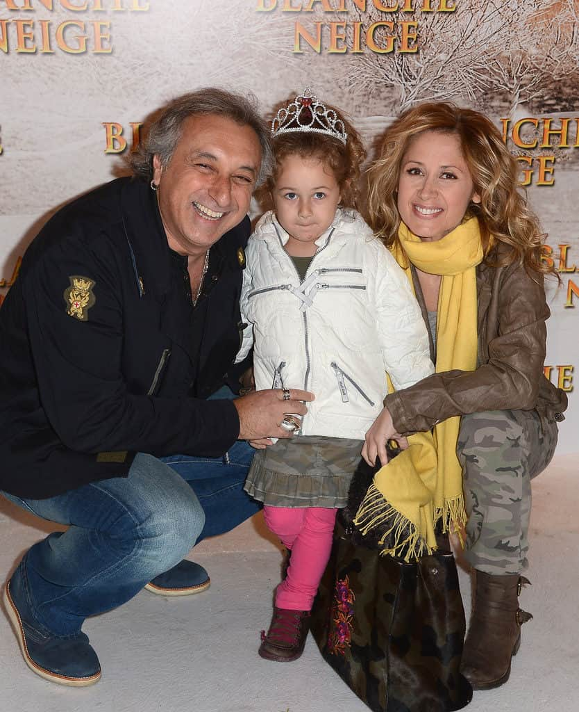 Лара Фабиан с мужем и ребенком