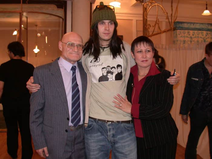 Юрий Шерстнев с женой и сыном