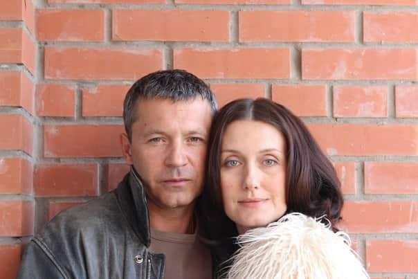 Никита Салопин с женой