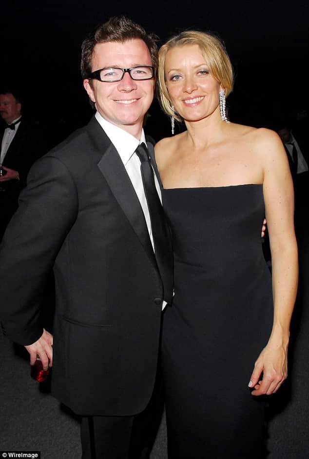 Рик Эстли с женой
