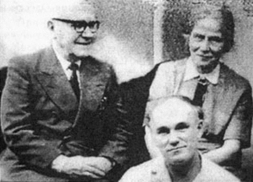 Святослав Рихтер с матерью и отцом