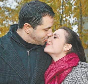 Надежда Бахтина с мужем