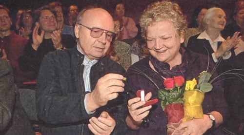 Анастасия Вознесенская и ее муж Олег Мягков