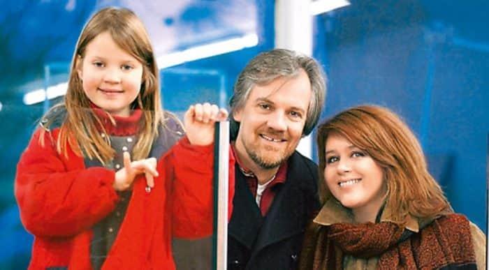 Янина Лисовская с семьей