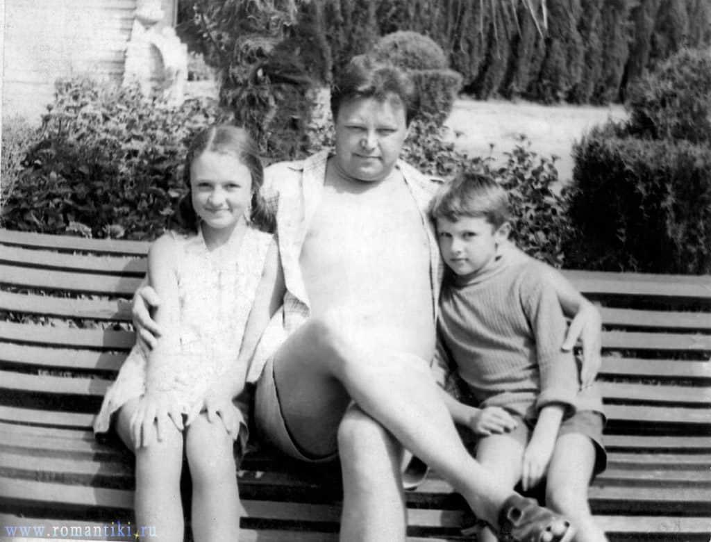Вячеслав Невинный с детьми