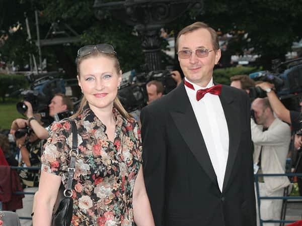 Николай Бурляев с женой