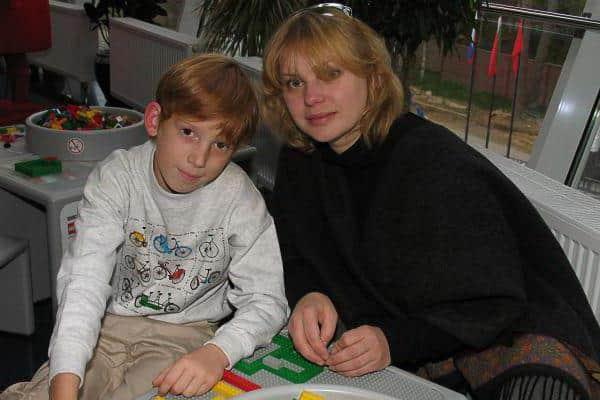 Ольга Машная с сыном