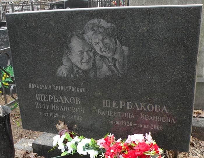 могила Петра Щербакова
