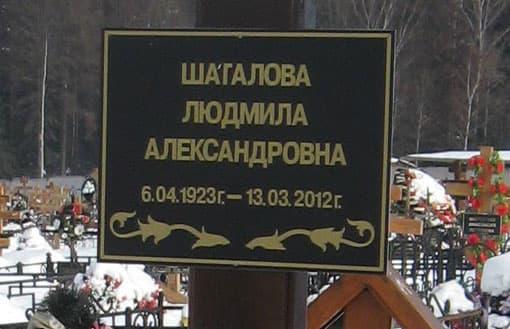 Фото: памятник Людмиле Шагаловой