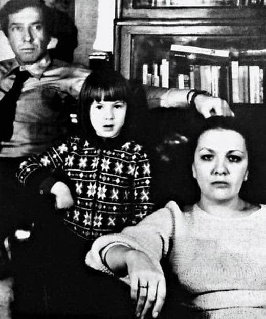 Дарья Юрская с родителями в детстве