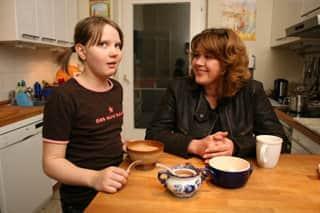 Янина Лисовская с дочкой