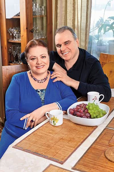 Елена Цыплакова с мужем