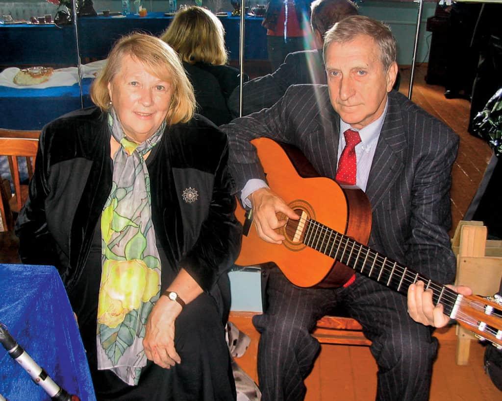Людмила Иванова с мужем