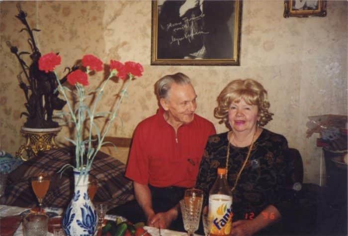 Георгий Юматов с женой