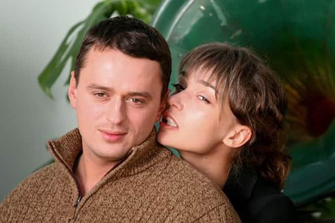 Юлия Маврина с мужем