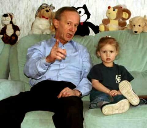 Виктор Косых с дочкой