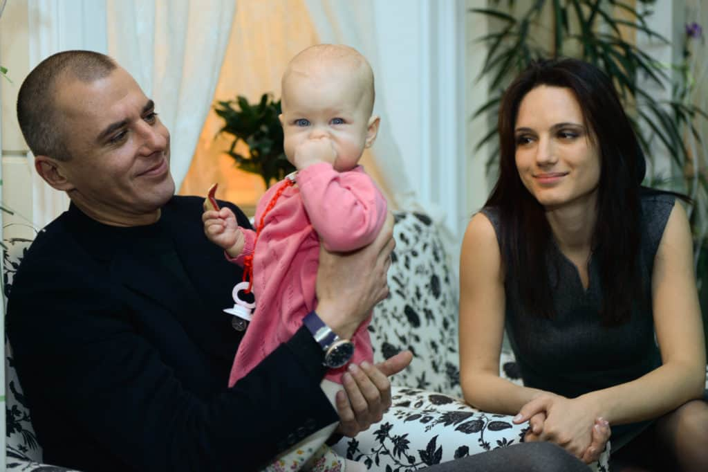 Кристина Бродская с семьей