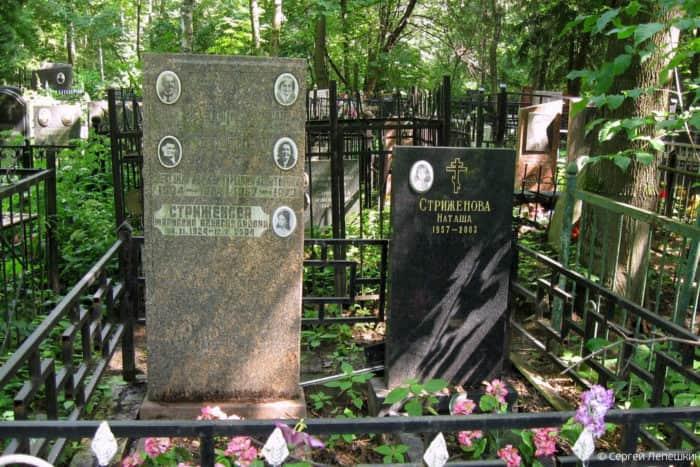 могила Натальи Стриженовой