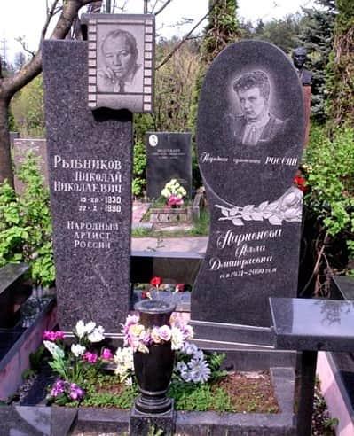 Могила Аллы Ларионовой