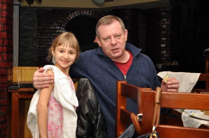 Вадим Андреев с дочкой