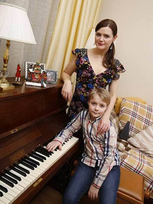 Дарья Калмыкова с сыном