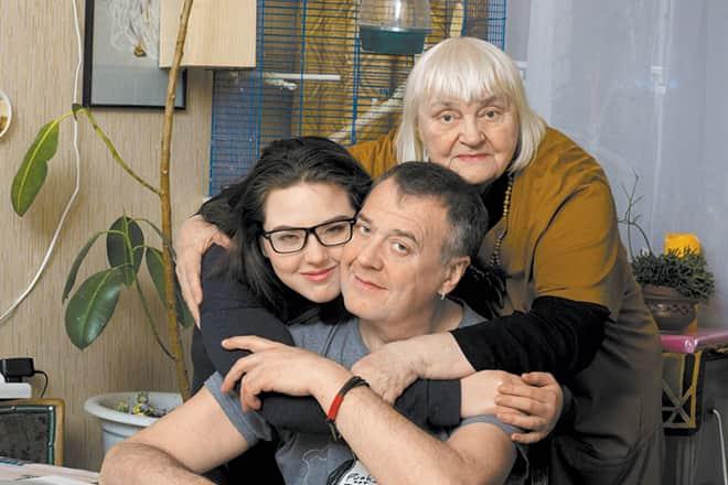 Артур Ваха с семьей