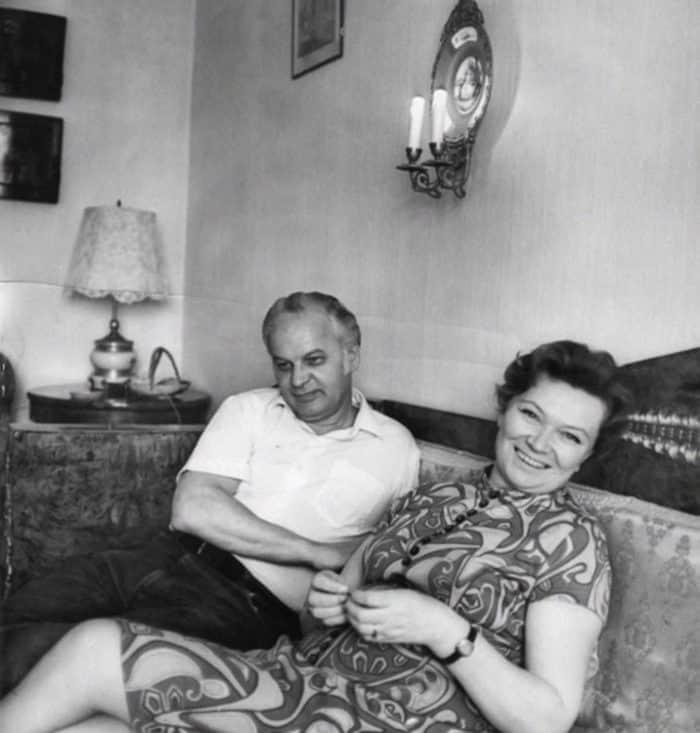 Нина Меньшикова с мужем Станиславом Ростоцким