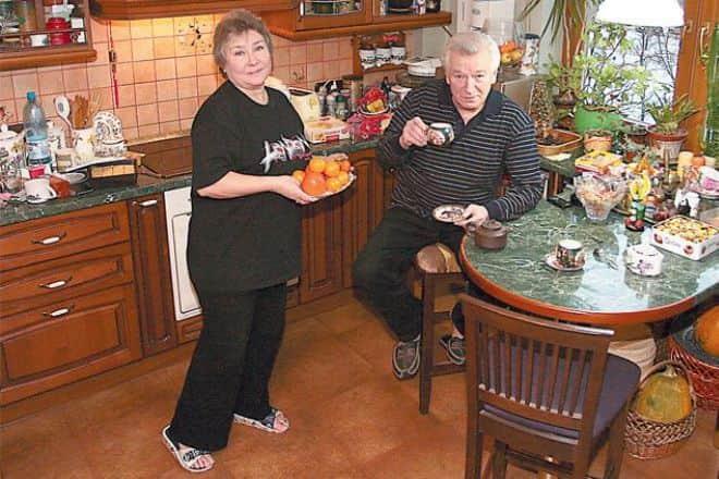 Аристарх Ливанов с женой