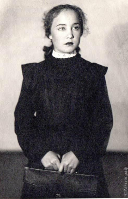 Надежда Румянцева в детстве