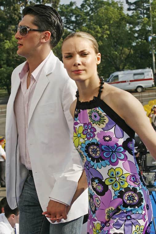 Ольга Арнтгольц с мужем Вахтангом Беридзе