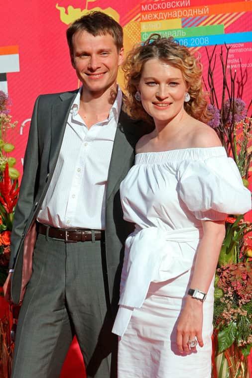 Виктория Толстоганова с мужем