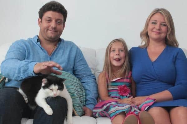 Михаил Полицеймако с женой и дочкой