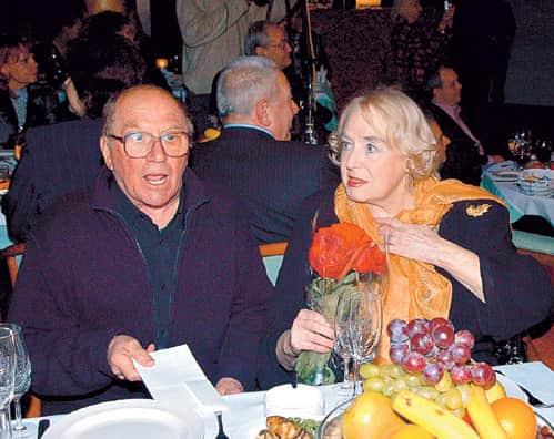 Лев Дуров с женой