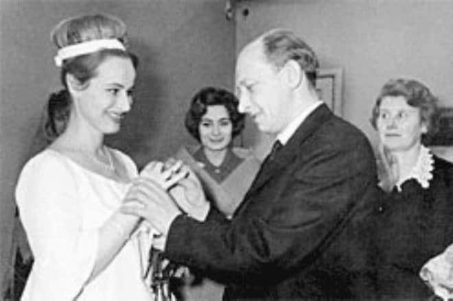 Свадьба - Евгений Евстигнеев с женой