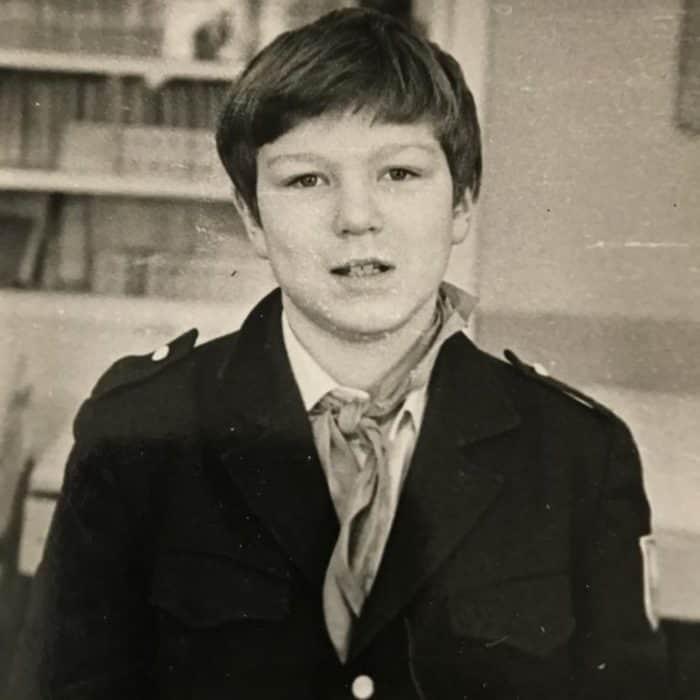 Александр Робак в детстве