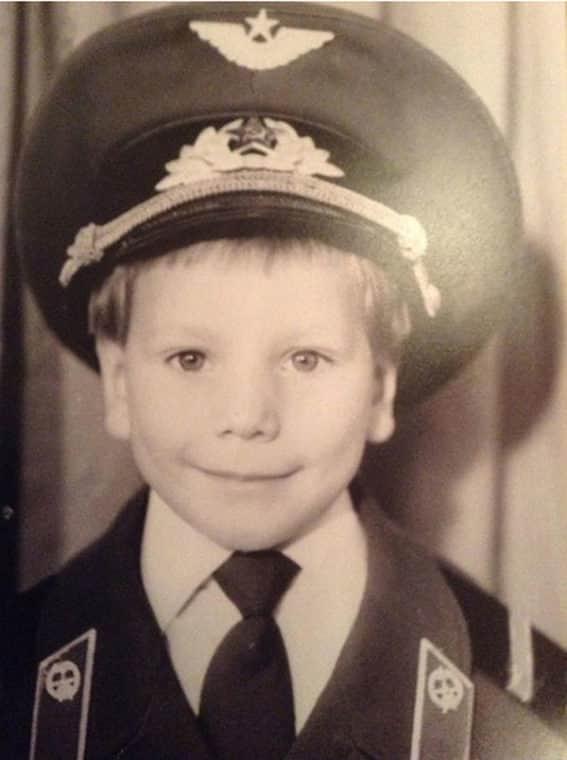 Александр Устюгов в детстве