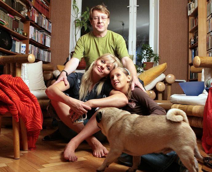 Анна Ардова с семьей