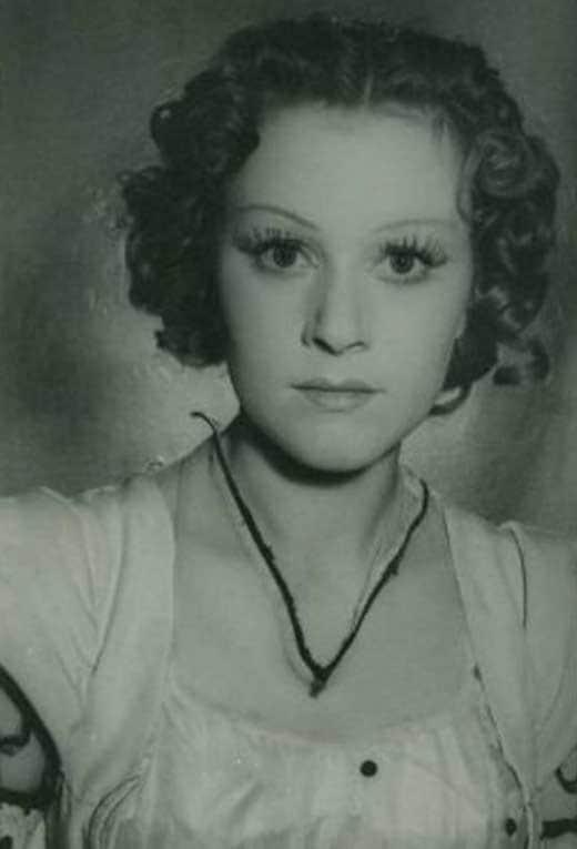 Валентина Талызина в юности