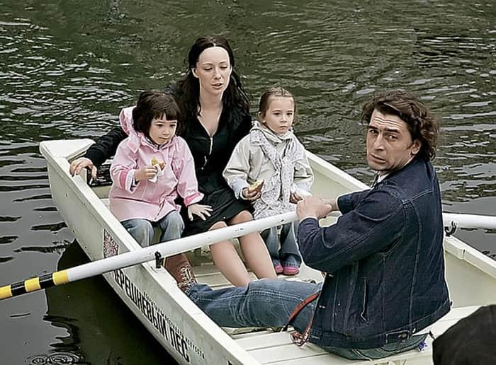 Чулпан Хаматова с семьей