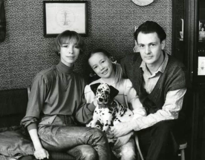 Марина Левтова с мужем и дочкой