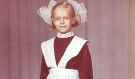 Ольга Ломоносова в детстве