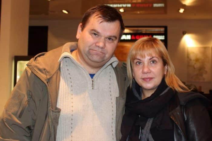 Марина Федункив с мужем