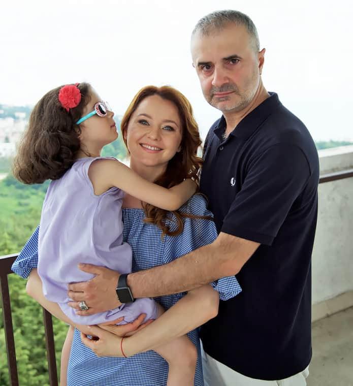 Валентина Рубцова с мужем и дочкой