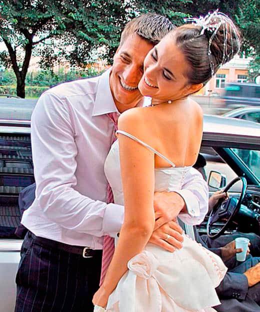 Александр Устюгов с женой