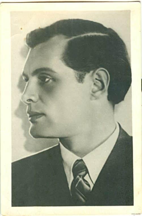 Павел Кадочников в молодости