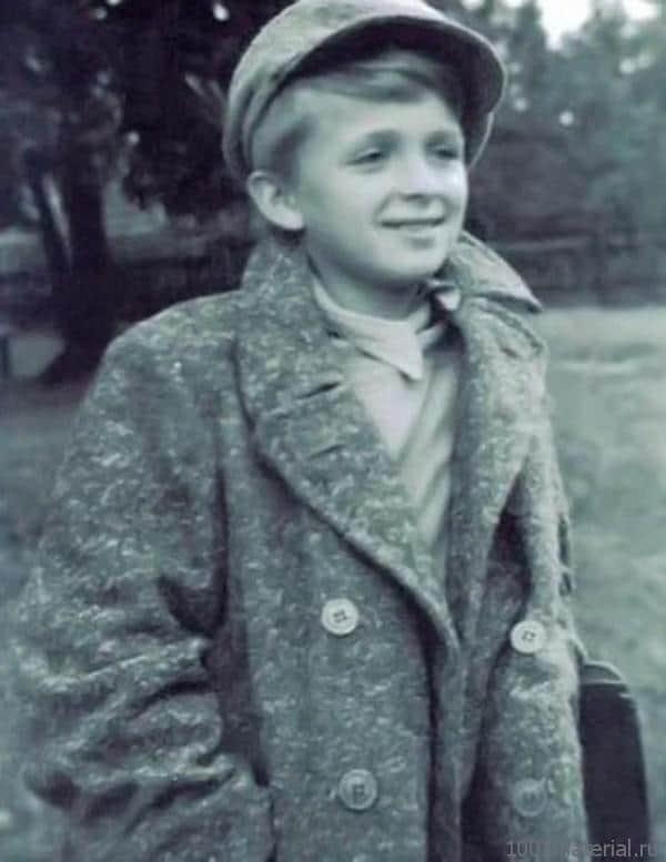 Евгений Стеблов в детстве