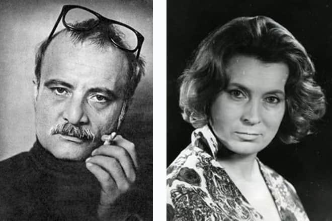 Любовь Соколова и ее муж